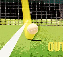 Tennis Hawkeye Out by Natalie Kinnear