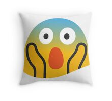 face screaming in fear emoji Throw Pillow