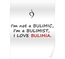 Perks of being a wallflower Bulimia Poster