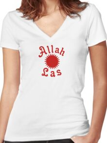 Allah Las Sun Drawing Women's Fitted V-Neck T-Shirt