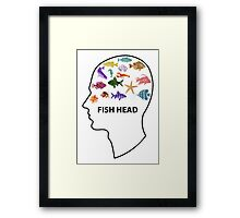 Fish Head Framed Print