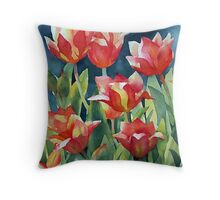 Sunlit Tulips enhanced Throw Pillow