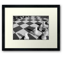 Chess game Framed Print
