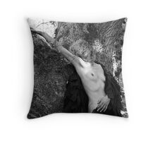 Black Cloak No.3 Throw Pillow