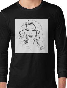 Portrait Oprah in line Long Sleeve T-Shirt