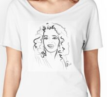 Portrait Oprah in line Women's Relaxed Fit T-Shirt
