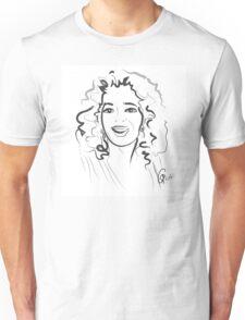 Portrait Oprah in line Unisex T-Shirt
