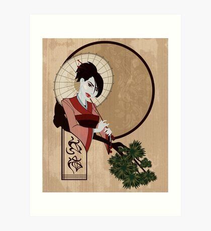 Jap Girl Art Print