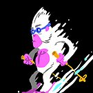 Skiing Yeti by Bakword