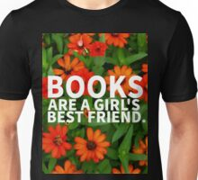 Books, A Girl's Best Friend Unisex T-Shirt