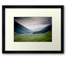 Moffat Water from the Grey Mares Tail Footpath, Dumfries and Galloway Framed Print