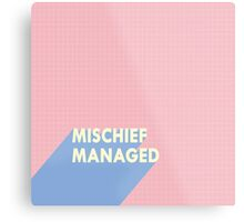mischief managed.  Metal Print