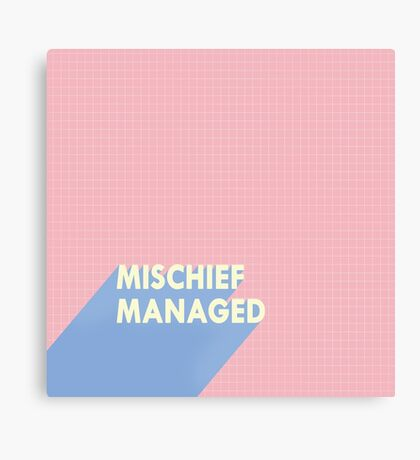 mischief managed.  Canvas Print