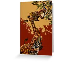 Wine Giraffe Greeting Card