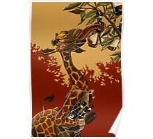 Wine Giraffe Poster