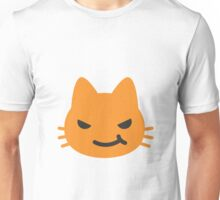 Cat face with wry smile emoji Unisex T-Shirt