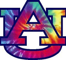 Auburn Tie Die by chsecrwfrd