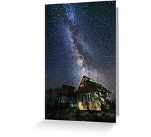 The Milky Way that rises among the houses Greeting Card