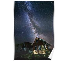 The Milky Way that rises among the houses Poster