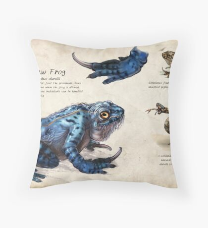 The Claw Frog Throw Pillow