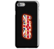 GBR - Great Britain - Flag Logo - Glowing iPhone Case/Skin