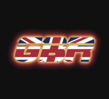 GBR - Great Britain - Flag Logo - Glowing One Piece - Short Sleeve