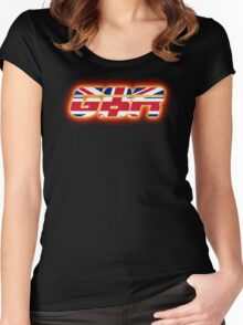 GBR - Great Britain - Flag Logo - Glowing Women's Fitted Scoop T-Shirt