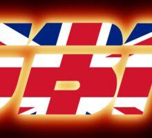 GBR - Great Britain - Flag Logo - Glowing Sticker