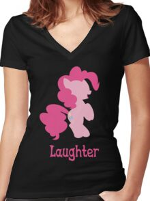 Pinkie Pie - Laughter Women's Fitted V-Neck T-Shirt