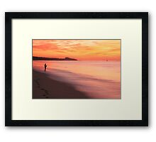Fisherman at Daybreak Framed Print