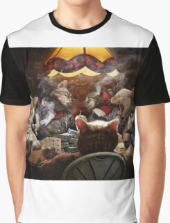 Cats play poker Graphic T-Shirt
