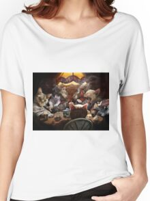 Cats play poker Women's Relaxed Fit T-Shirt
