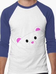 Shy teddy bear Men's Baseball ¾ T-Shirt