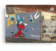 Mickey Mouse Graffiti Canvas Print