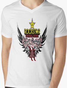 Rockstar Energy Drink Mens V-Neck T-Shirt