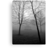 Foggy Morning in the Park Canvas Print