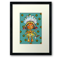 one little indian Framed Print
