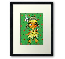 two little indian Framed Print