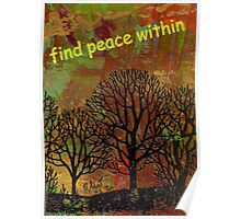 Finding Peace Poster