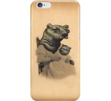 Vintage Bear Lady and Cub iPhone Case/Skin