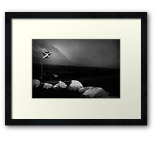 bad weather and proud of it Framed Print
