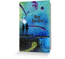 Healthy Living Greeting Card