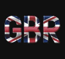 GBR - British Flag - Metallic Text One Piece - Long Sleeve