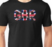 GBR - British Flag - Metallic Text Unisex T-Shirt
