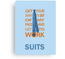 Suits - Get Your Skinny Tie Canvas Print