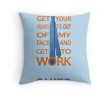 Suits - Get Your Skinny Tie Throw Pillow