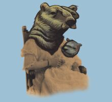 Vintage Bear Lady and Cub Kids Tee