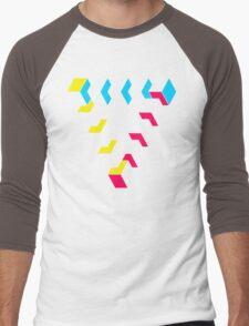 KUBEZ-REMIX-CMYK Men's Baseball ¾ T-Shirt