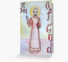 St. John of God Greeting Card