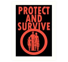 Protect And Survive Boy Art Print